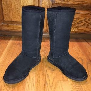 Tall Black Classic UGG Boots